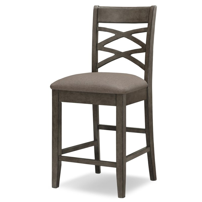 Leick Favorite Finds Double 24 Quot Crossback Counter Stool In