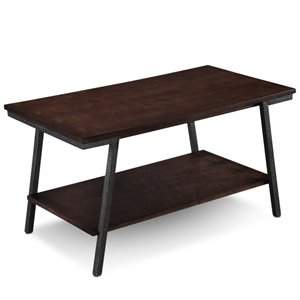 Leick Empiria Apartment Coffee Table in Walnut and Foundry Bronze