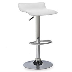 Leick Favorite Finds Adjustable Swivel Bar Stool in White and Chrome