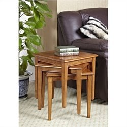 Leick Furniture Favorite Finds Stacking Table Set in Medium Oak Finish