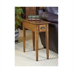 Leick Furniture Bin Pull Narrow End Table in Candleglow Finish