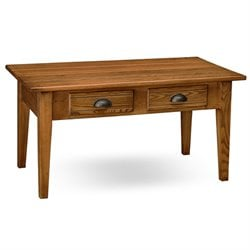Leick Furniture 2 Drawer Storage Coffee Table in Candleglow Finish