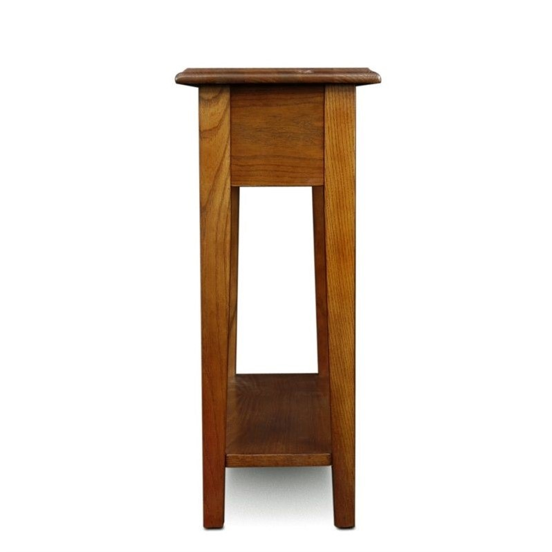 Leick Furniture Chairside End Table in Medium Oak Finish