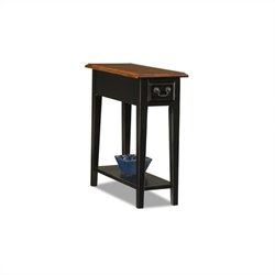 Leick Furniture Chairside End Table in Slate Finish
