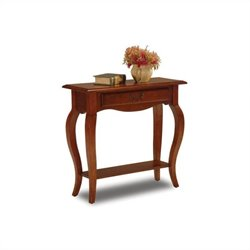 Leick Furniture French Console Table in Brown Cherry Finish