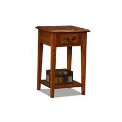 Leick Furniture Shaker Square End Table in Medium Oak Finish