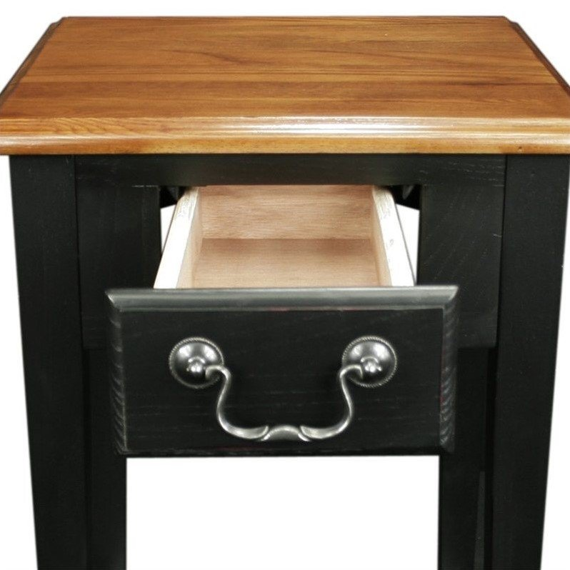 Leick Furniture Shaker Square End Table in Slate Black