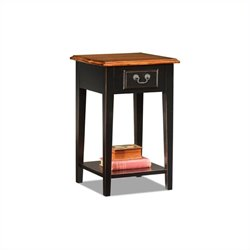 Leick Furniture Shaker Square End Table in Slate Black Finish