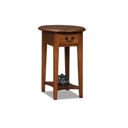 Leick Furniture Oval End Table in Medium Oak Finish