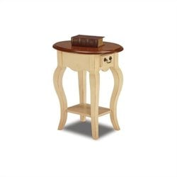 Leick Furniture French Oval End Table in Ivory