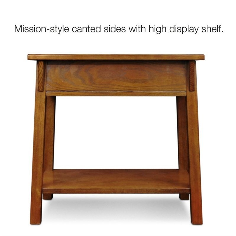 Leick Furniture Mission Chairside End Table in Russet Finish