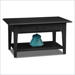 Leick Furniture Shaker Solid Wood Storage Coffee Table in Slate Black