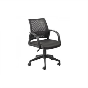 Leick Furniture Mesh Back Office Chair in Black Finish