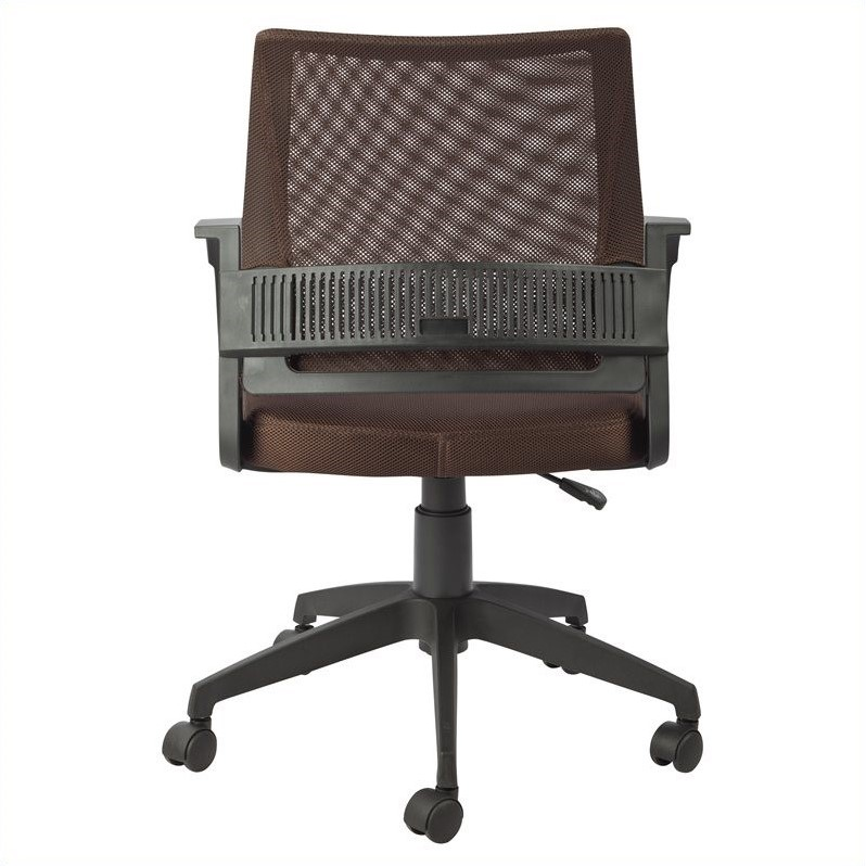 Leick Furniture Mesh Back Office Chair in Deep Brown Finish