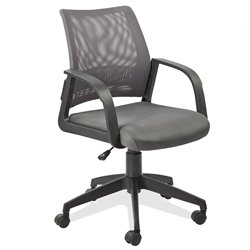 Leick Furniture Mesh Back Office Chair in a Grey Finish