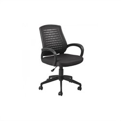 Leick Furniture Mesh Vented Back Office Chair in a Black Finish