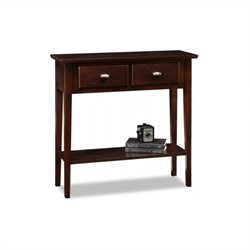 Leick Furniture Hall Console-Sofa Table in Chocolate Oak Finish