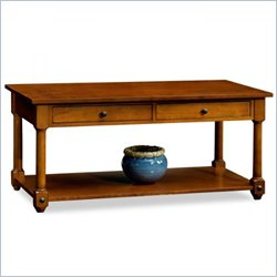 Leick Furniture Cardamon Two Drawer Storage Coffee Table in Russet