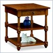 ADD TO YOUR SET: Leick Furniture Cardamon Tiered Shelf End Table in a Russet Finish