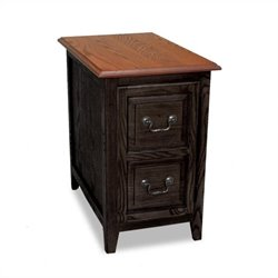 Leick Furniture Favorite Finds Shaker Storage End Table in Slate Black