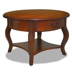 Leick Furniture French Countryside Round Storage Coffee Table
