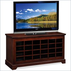 Leick Furniture Grid TV Console with Two-way Sliding Grid Door in Oak