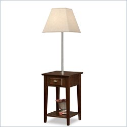 Leick Favorite Finds Square Lamp End Table in Chocolate