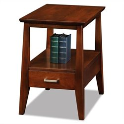 Leick Furniture Delton Solid Wood Square End Table in Sienna