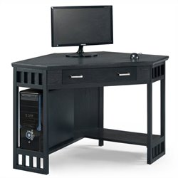 Leick Furniture Corner Computer Writing Desk in Black