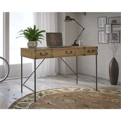 Kathy Ireland by Bush Ironworks Writing Desk in Golden Pine