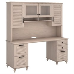 Kathy Ireland by Bush Volcano Dusk Computer Desk with Hutch