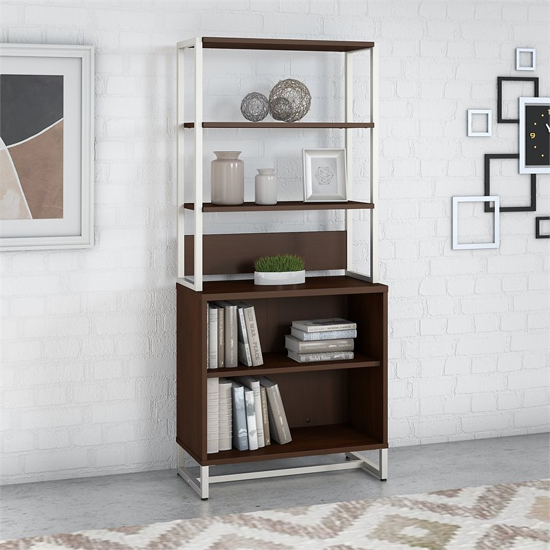 Office By Kathy Ireland Method Bookcase With Hutch In