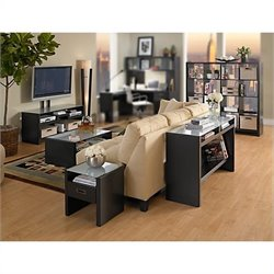 Kathy Ireland Office by Bush Furniture New York Skyline Work-'N-Play Family Suite in Modern Mocha