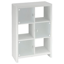 Kathy Ireland by Bush New York Skyline Cube Bookcase in Plumeria White