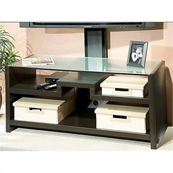 Kathy Ireland by Bush New York Skyline 3-in-1 Gaming Center/TV Stand in Modern Mocha