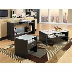 Kathy Ireland Office by Bush Furniture New York Skyline 4 Piece Coffee Table Set in Modern Mocha