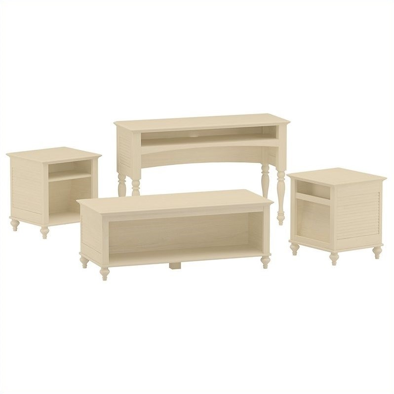Kathy Ireland Office by Bush Furniture Volcano Dusk 4 Piece Occasional Table Set in Driftwood Dreams