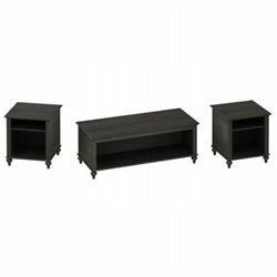 Kathy Ireland Office by Bush Furniture Volcano Dusk 3 Piece Coffee Table Set in Kona Coast