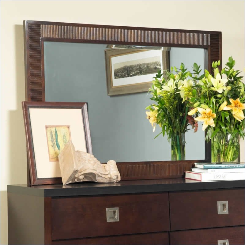 Angelo Home Marlowe Mirror in Chocolate Brown