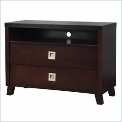 Angelo Home Marlowe Media Chest in Black and Chocolate Brown