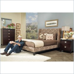 angelo:HOME Marlowe Wendy Pepper Shelter Bed 3 Piece Bedroom Set
