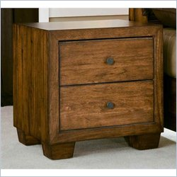Angelo Home Chelsea Park Solid Wood Nightstand in Medium Brown