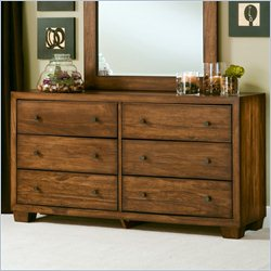 Angelo Home Chelsea Park Solid Wood Dresser in Medium Brown