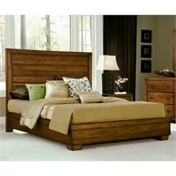 angelo HOME Chelsea Park Solid Wood Panel Bed in Medium Brown - Full