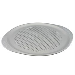 Farberware Insulated Bakeware Nonstick Pizza Pan in Light Gray