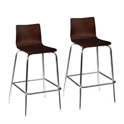 Holly & Martin Blence Bar Stool in Espresso (Set of 2)