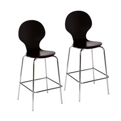 Holly & Martin Conbie Bar Stool in Black (Set of 2)