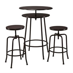 Holly & Martin Kalomar 3 Piece Pub Set in Espresso