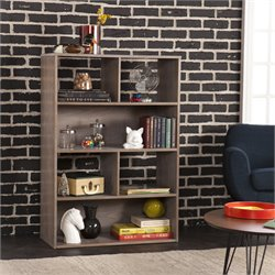 Holly & Martin Haza 4 Shelf Bookcase in Burnt Oak