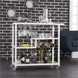 Holly & Martin Zephs Bar Cart in White